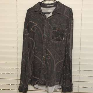 Paisley Print Button Up