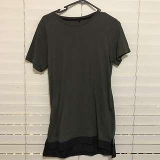Khaki With Black Trim T-Shirt