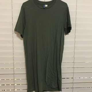 Khaki Longline T-Shirt