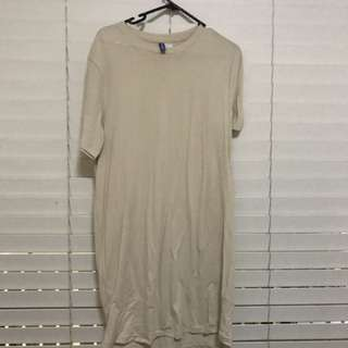 Cream Longline T-Shirt
