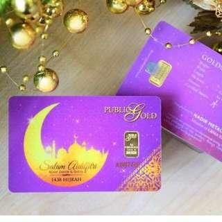 Hari Raya 1gm Gold Bar 999.9 24K Special Edition