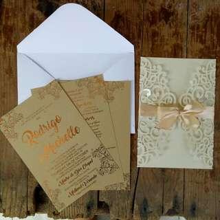 Lasercut/ Diecut Wedding Invitation/ Debuts, etc.