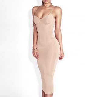 Sexy Bustier Midi Dress (S)
