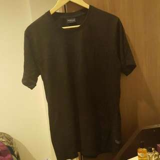 Black Plain Huffer Shirt