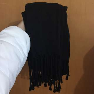 Black Thin Scarf