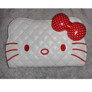 Hello Kitty Sanrio Harajuku 3D Ribbon Quilted Embroidery Wallet