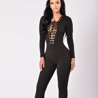 About The Game Jumpsuit- Black