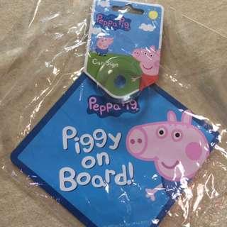 英國Peppa Pig George Baby In Car車牌