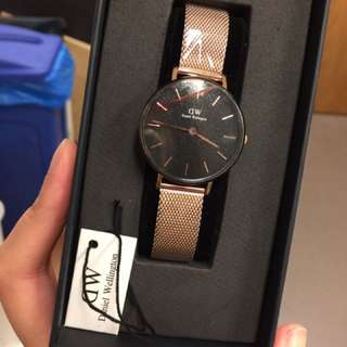 DW Melrose watch Rosegold Black
