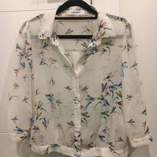 Style London Shirt With Bird Detail