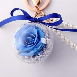 Christmas Gift [Handmade] Preserved Fresh Flower Fashion Key Pendant