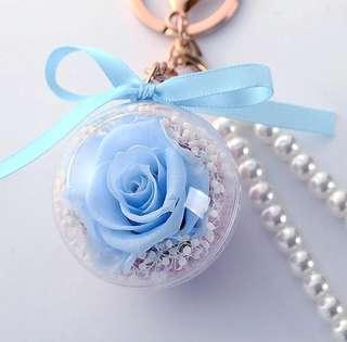 Christmas Gift[Handmade] Preserved Fresh Flower Fashion Key Pendant