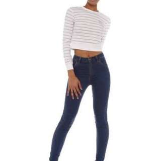 wrangler hitwiggy High Waisted Jeans Size 10 Cutoffs