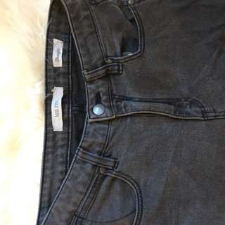 Wrangler Black Skinny Jeans Size 9 Mid Pins Mid Rise Ripped Knees