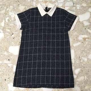 Collared Grid Dress