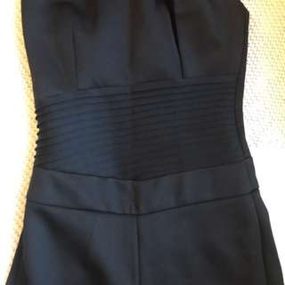 Sexy Black Jumpsuit Size 8 Fully Lined Figure Hugging