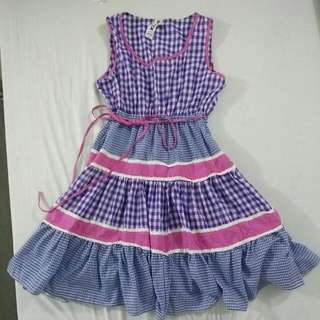 Blue Checkered Dress bought in Japan