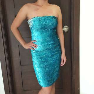 Forever 21 Blue Cocktail Dress