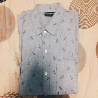 Gray Printed Polo
