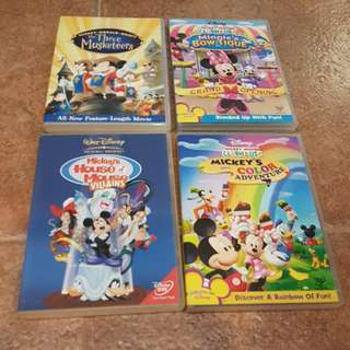 Preloved Mickey Mouse DVDs