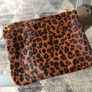 Leopard Clutch Or Make Up Bag