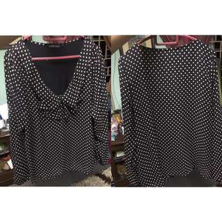 Polkat Dot Top With Lining