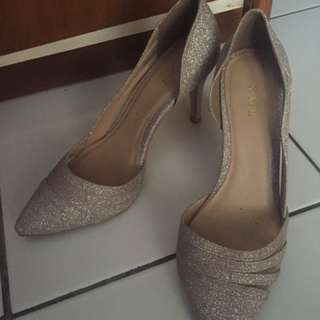 Glittering Silver High Heels