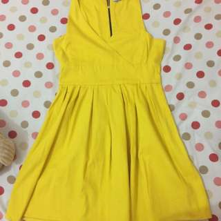 Pull And Bear Yellow Dress (L Size)
