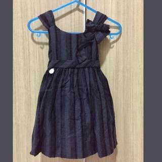 Girl's Dress Hitam Beludru 1thn -1.5thn