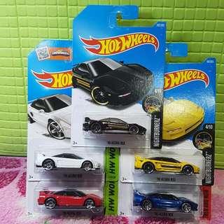 Hot Wheels 90 Acura NSX Set