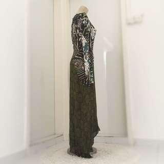 Kenzo Asymmetrical Floral Print Dress
