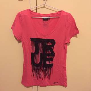 Pink V-neck ONLY Tshirt