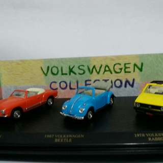 Die Cast Mobil Vw collection set (3 unit) Vw khatman ghia.vw beetle dan vw rabbit