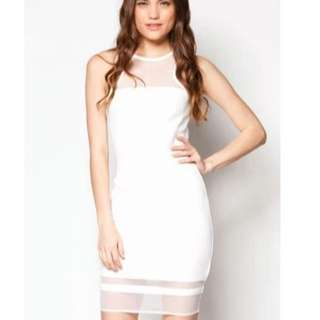 ZALORA White Hourglass Maxi Dress
