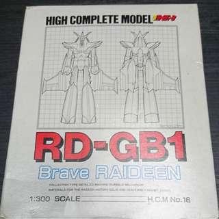 1984 BANDAI HIGH COMPLETE MODEL RD-GB1 HCM 1/300 BRAVE RAIDEEN MIB