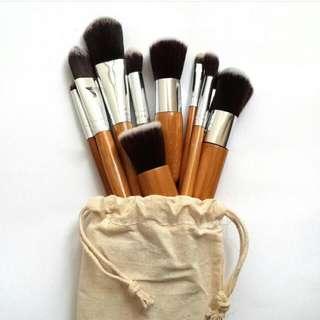 Bamboo Makeup Brush Set 11PCS Natural