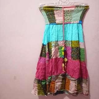 Halter Dress Motif Perca