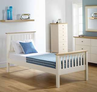 Single White Jose Bed Frame Factory Price