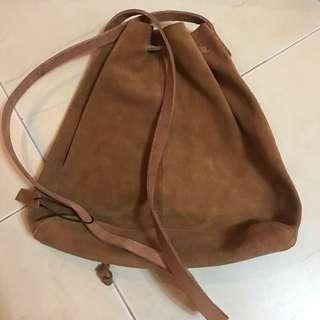Real Leather Bucket Bag