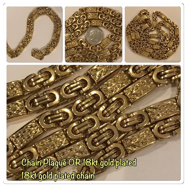 "26"" 2.8 ounce! 18kt gold plated Stainless Steel  chain!!"