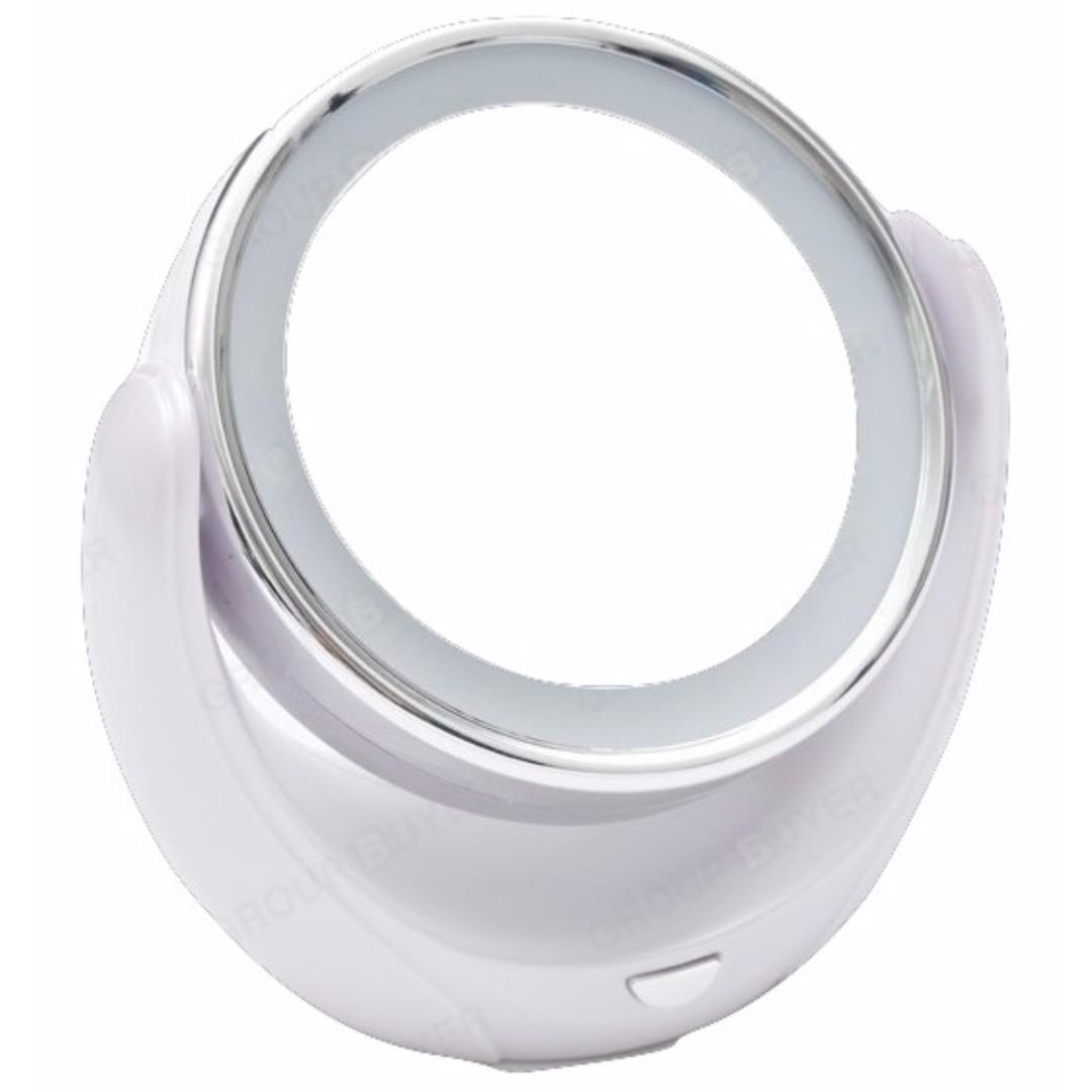 雙面360度旋轉LED化妝鏡