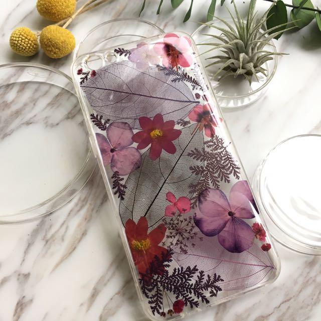 純粹紫乾燥花手機殼