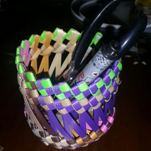 手作編織筆筒 置物筒
