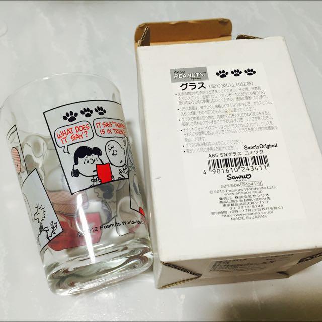 史努比 玻璃杯 可議價 日本製