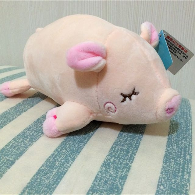 趴趴豬 睡睡豬 懶豬 小豬 粉紅色小豬 豬仔 豬豬 絨毛玩偶 貪睡豬