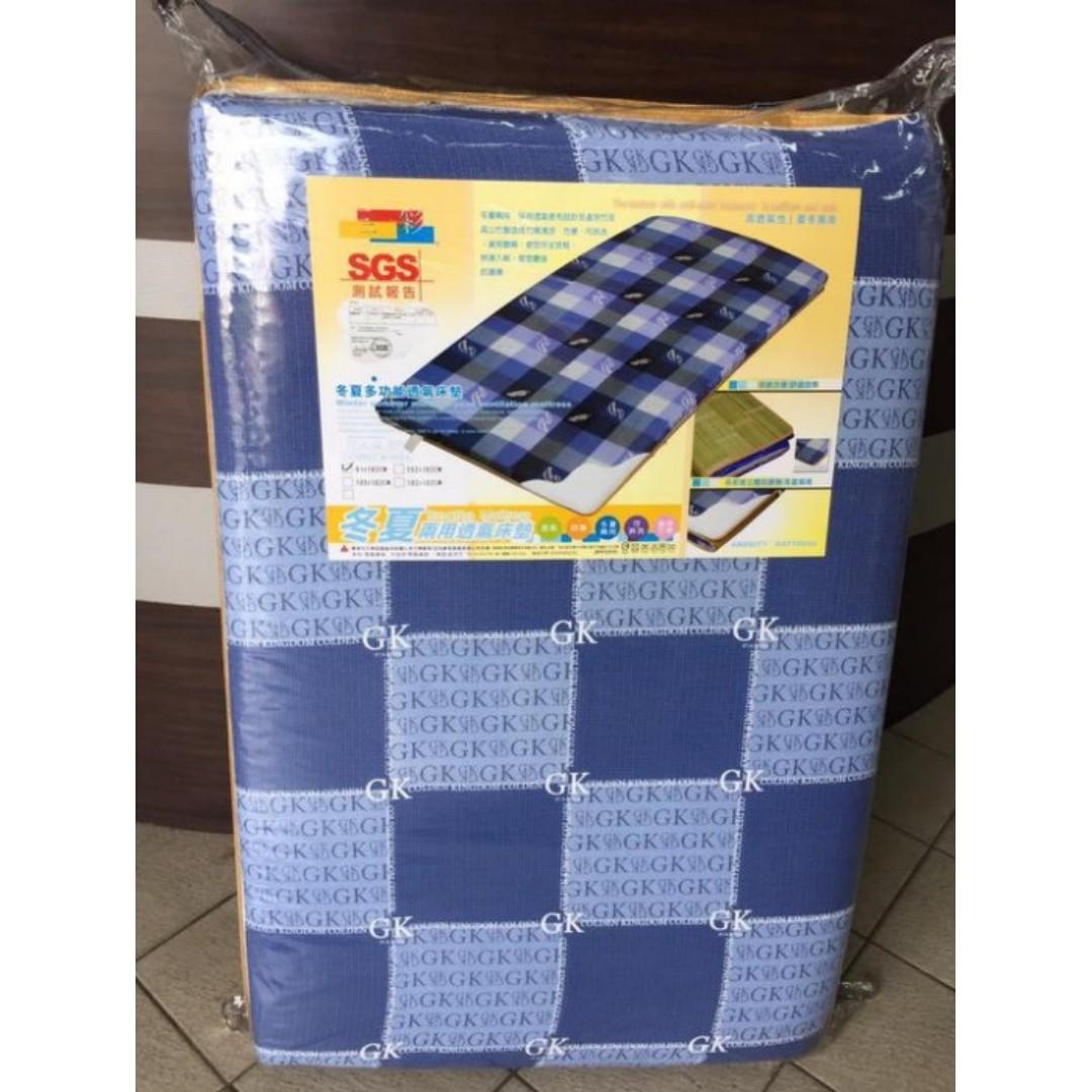 冬夏兩用三尺透氣床墊 兒童上下床 套房 地鋪 獨立筒床墊 雙人床組 實木床架 另有單人床 床頭櫃/床架床片/床底/床頭箱B844
