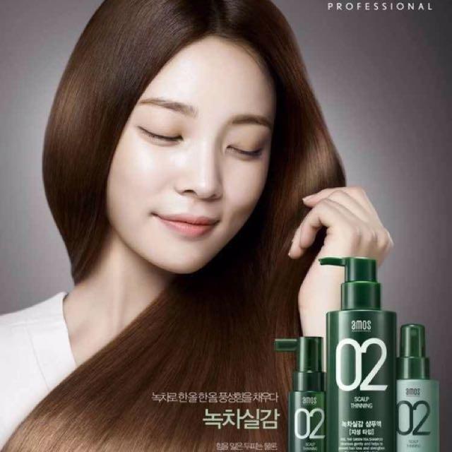 韓國代購專區#頭皮養護 #amos #02 #強化髮根 #綠茶