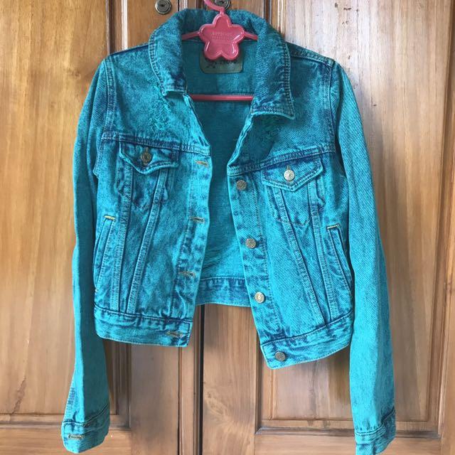Acid Green Jeans Jacket