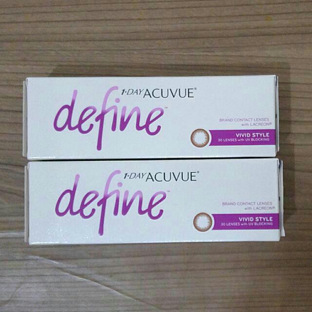 Acuvue Define Softens Vivid Style