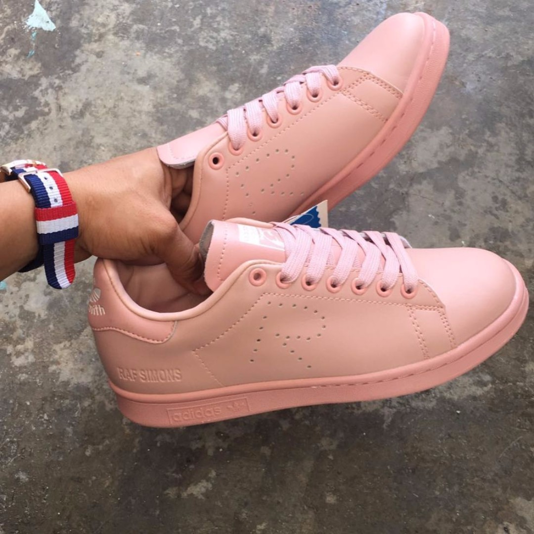 check out a2d0a a1ff9 ADIDAS STAN SMITH RAF SIMONS ASH PINK